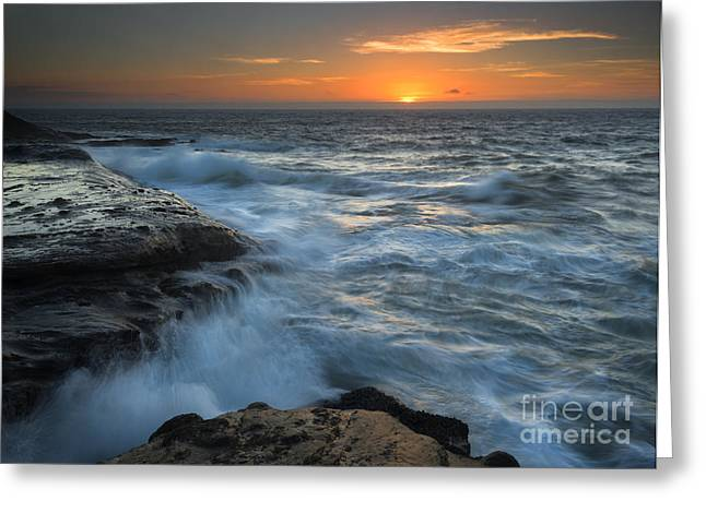 Cape Photographs Greeting Cards - Covered by the Sea Greeting Card by Mike Dawson