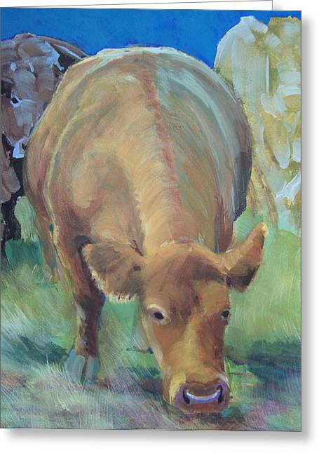 Ghost Like Greeting Cards - Cows  Greeting Card by Mike Jory