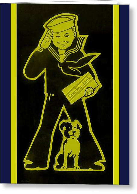 Crackerjack Greeting Cards - Crackerjack Navy Colors Greeting Card by Rob Hans