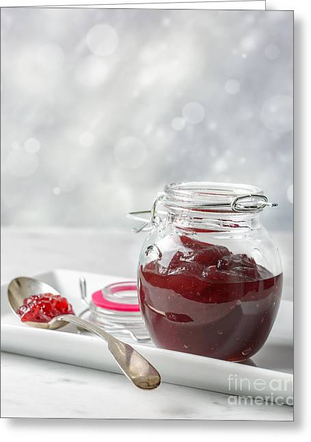 Cranberry Greeting Cards - Cranberry Sauce Greeting Card by Amanda And Christopher Elwell