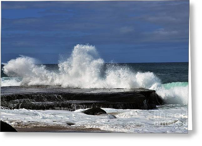 Beach Greeting Cards - Crashing Waves Greeting Card by Timothy OLeary