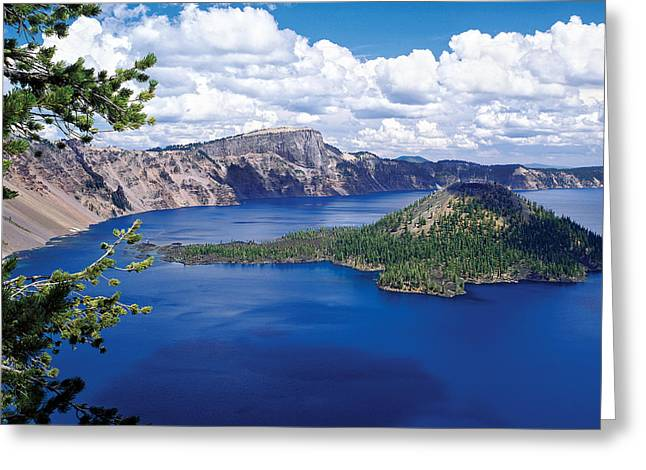 Crater Lake National Park Greeting Cards - Crater Lake At Crater Lake National Greeting Card by Panoramic Images