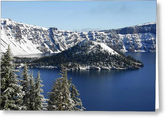 Crater Lake National Park, Oregon, Usa Greeting Card by Michel Hersen