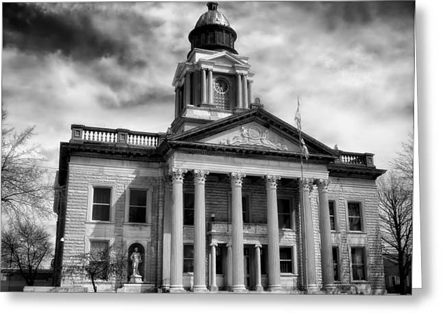Crawford County Greeting Cards - Crawford Country Courthouse Bucyrus Ohio Greeting Card by Mountain Dreams