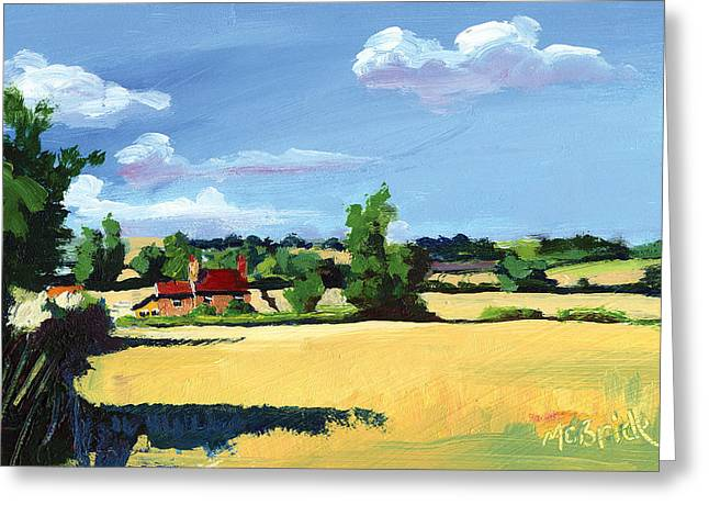 Expressionist Greeting Cards - Crayke Farm North Yorkshire Greeting Card by Neil McBride