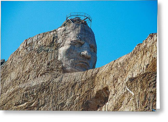Crazy Horse Photographs Greeting Cards - Crazy Horse Monument Greeting Card by Dany  Lison