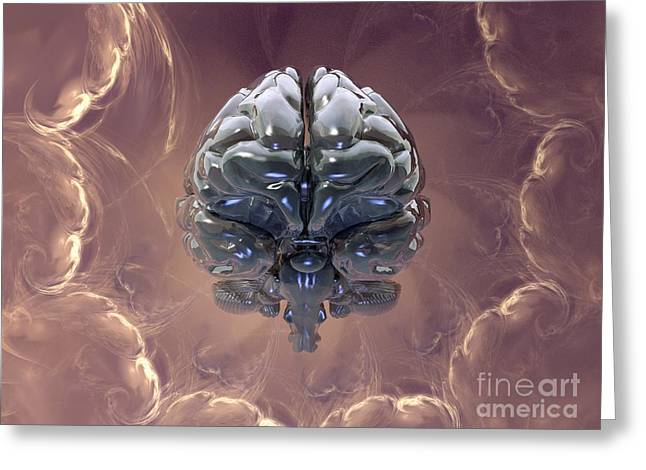 Left Hemisphere Greeting Cards - Creation Of The Human Brain, Artwork Greeting Card by Laguna Design