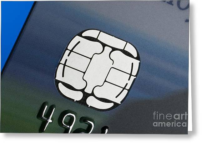 Microchip Greeting Cards - Credit Card Microchip Greeting Card by Steve Horrell