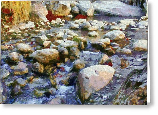 Babbling Greeting Cards - Creek Bottom Brook Greeting Card by Barbara Snyder