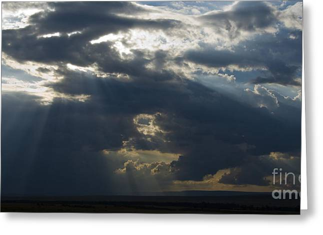 Crepuscular Rays Greeting Cards - Crepuscular Rays Greeting Card by John Shaw
