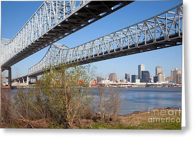 New Greeting Cards - Crescent City Connection New Orleans Greeting Card by Bill Cobb