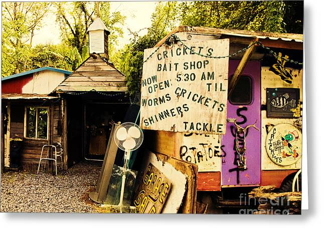 Lsu Tigers Greeting Cards - Crickets Bait Shop Greeting Card by Scott Pellegrin