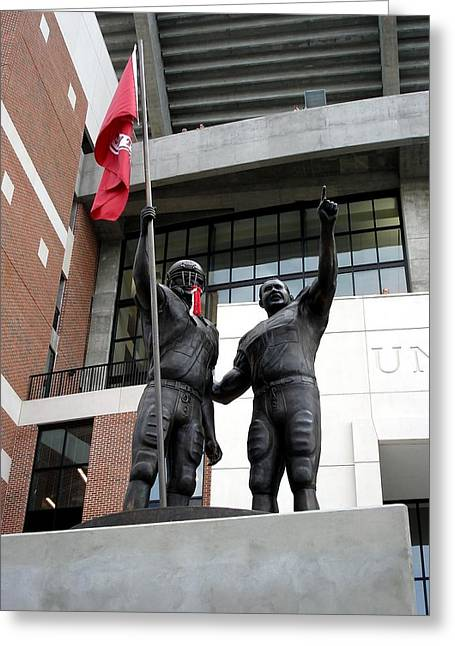 University Of Alabama Greeting Cards - Crimson Walk of Champions Greeting Card by Kenny Glover