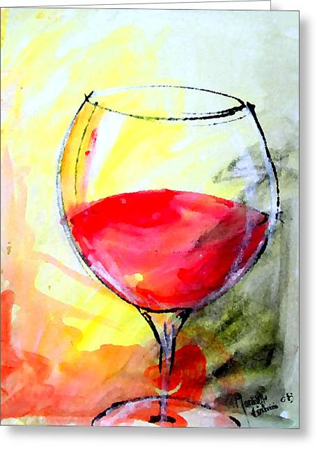 Wine Pour Digital Greeting Cards - Cristallo Greeting Card by Marcello Cicchini