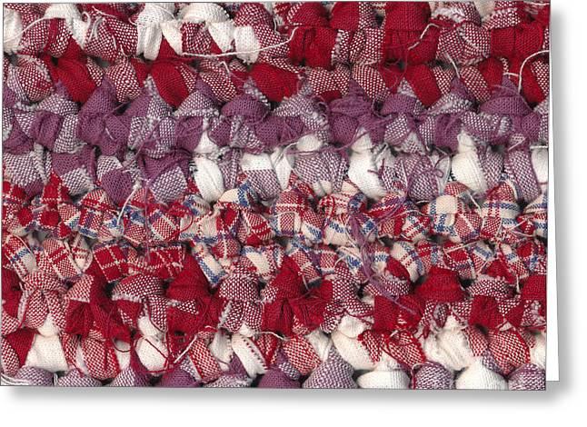 Crochet rag rug Greeting Card by Kerstin Ivarsson