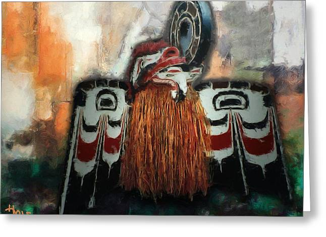 Northwestern Indian Greeting Cards - Crooked Beak Greeting Card by Roger D Hale