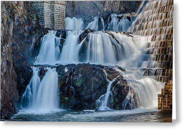 Westchester County Greeting Cards - Croton Gorge Dam Greeting Card by David Hahn