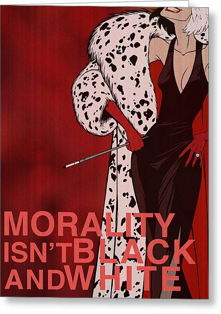 Morality Greeting Cards - Cruella De Vil Greeting Card by Christopher Ables