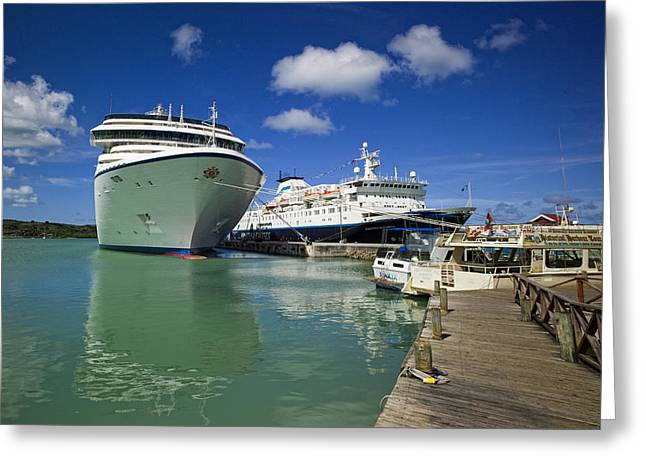 Ocean Photos Digital Greeting Cards - Cruise Ships Greeting Card by Susan Stone