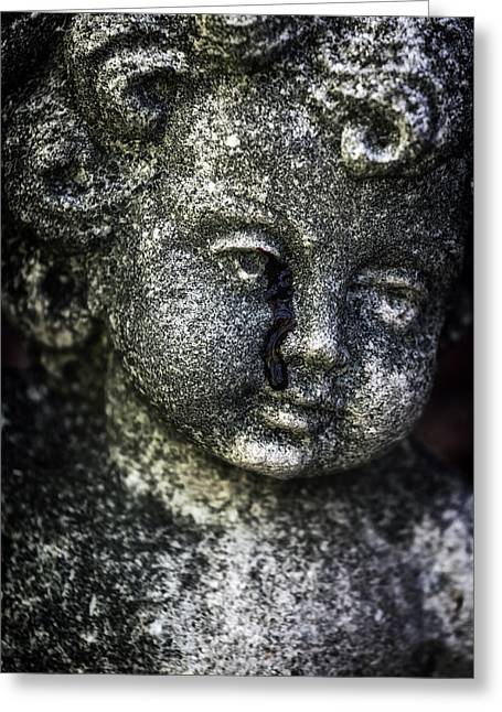 Torn Greeting Cards - Crying Blood Greeting Card by Joana Kruse