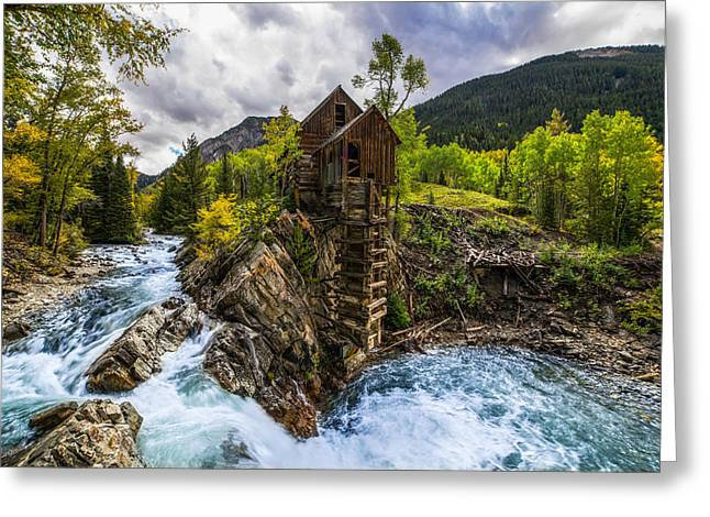 Crystals Greeting Cards - Crystal Mill CO Greeting Card by Peter Irwindale