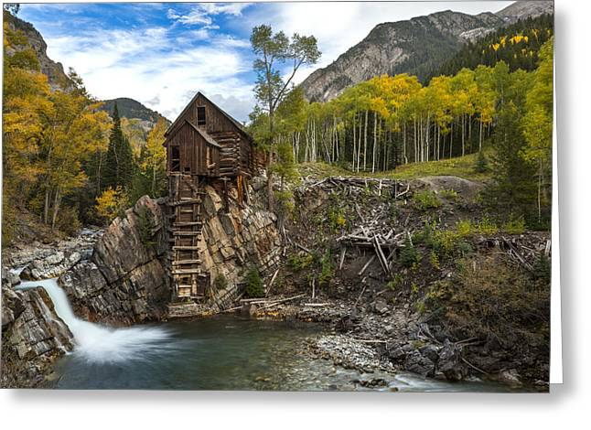 Crystal Mill Greeting Cards - Crystal Mill  Greeting Card by Tom Cuccio
