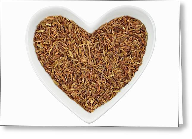 Cumin Seeds Greeting Card by Geoff Kidd