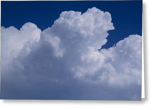 Billowing Greeting Cards - Cumulus Clouds Greeting Card by Panoramic Images