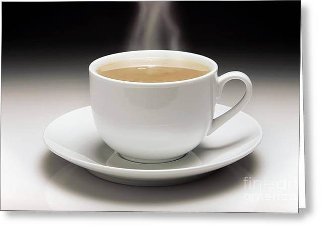 White China Cup Greeting Cards - Cup Of Tea Greeting Card by Victor de Schwanberg