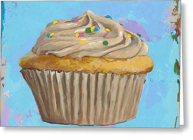 Cupcakes Greeting Cards - Cupcake #1 Greeting Card by David Palmer