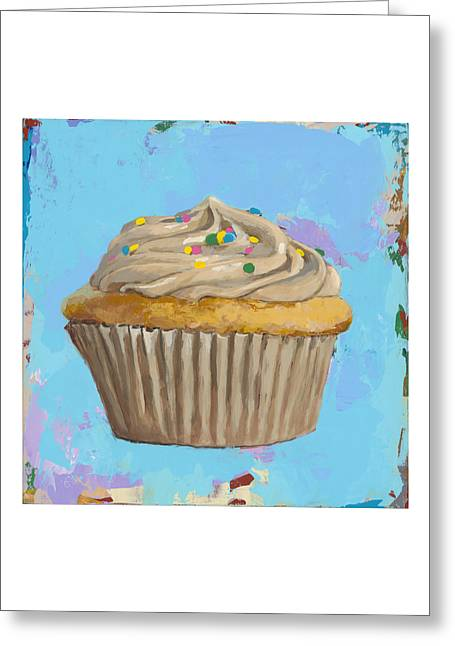 Cupcake #1 Greeting Card by David Palmer
