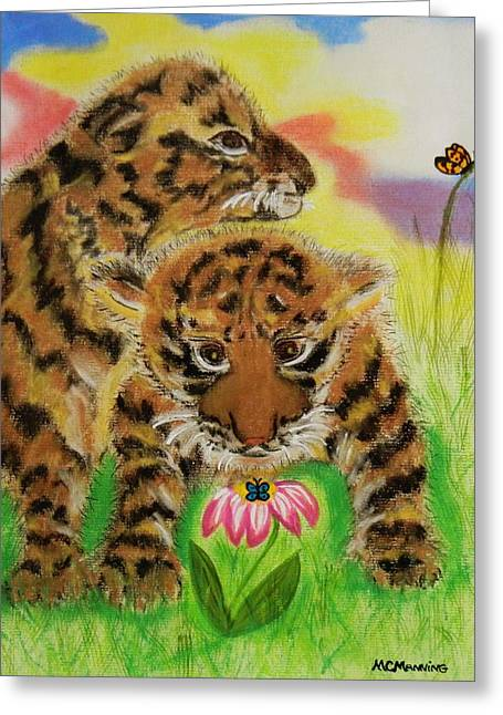 Playing Cards Pastels Greeting Cards - Curiosity Greeting Card by Celeste Manning