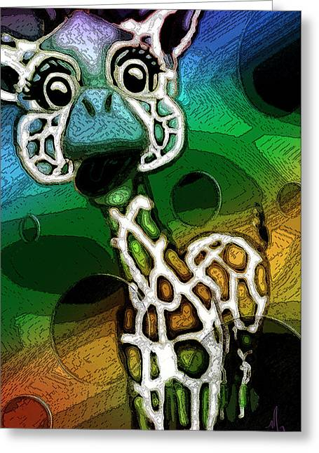 Lounge Paintings Greeting Cards - Curious Greeting Card by Michelle Rene Goodhew