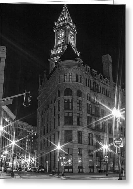 Custom House Tower Greeting Cards - Custom House Tower in Boston  Greeting Card by John McGraw