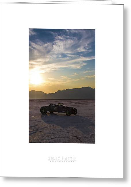 Bonneville Speed Week Greeting Cards - Custom Salt Greeting Card by Holly Martin
