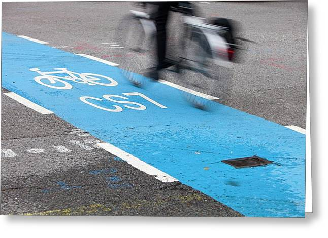 Cycle Superhighway Greeting Card by Ashley Cooper