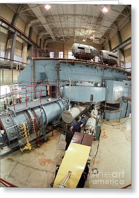 European Particle Physics Lab Greeting Cards - Cyclotron Particle Accelerator Greeting Card by RIA Novosti