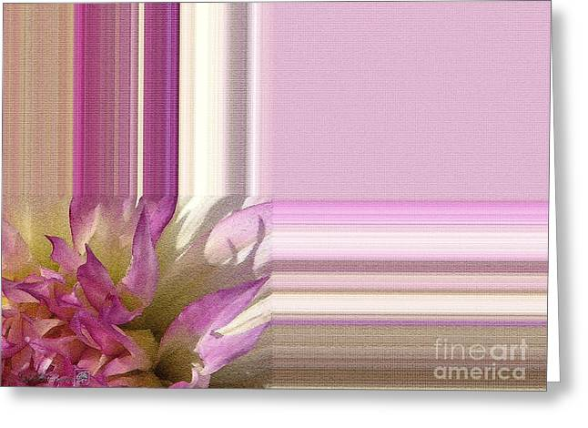 Floral Digital Art Greeting Cards - Dahlia named Angela Dodi Greeting Card by J McCombie