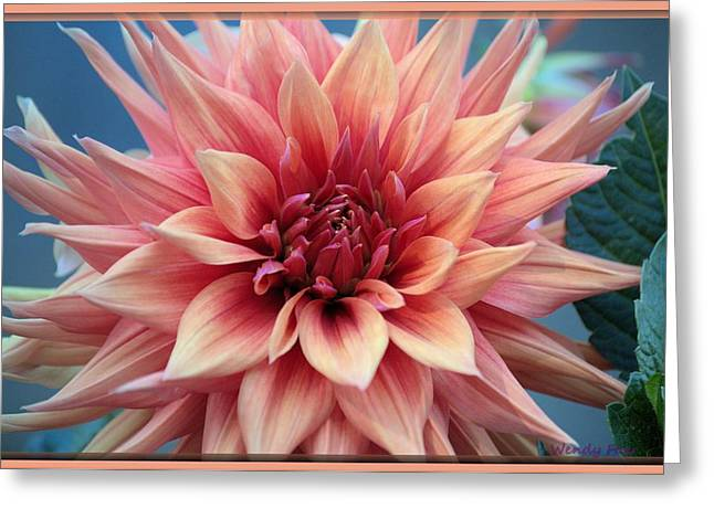 Dinner-plate Dahlia Greeting Cards - Dahlia Greeting Card by Wendy Fox