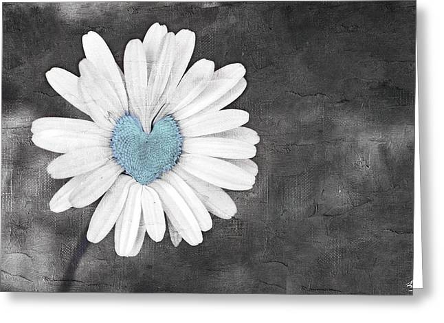 Fineartamerica Greeting Cards - Daisy Blue Greeting Card by Linda Sannuti