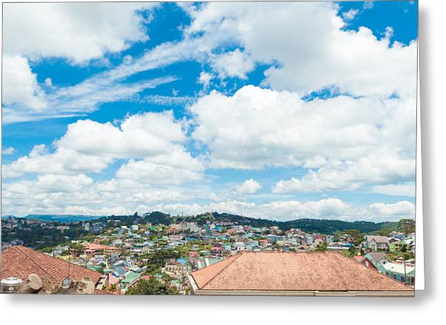 Dalat Greeting Cards - Dalat city view  Greeting Card by Nikita Buida