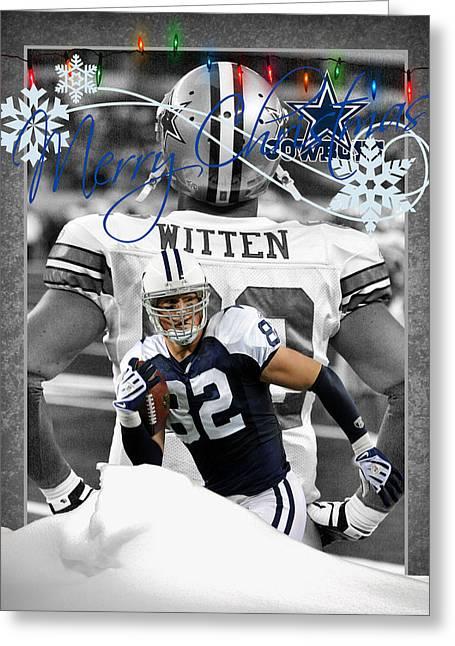 Christmas Greeting Photographs Greeting Cards - Dallas Cowboys Christmas Card Greeting Card by Joe Hamilton