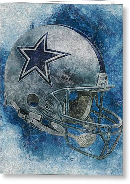 Irving Greeting Cards - Dallas Cowboys Greeting Card by Jack Zulli