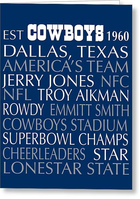 Dallas Cowboys Greeting Card by Jaime Friedman