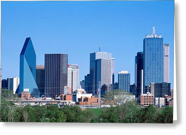Urban Buildings Greeting Cards - Dallas, Texas, Usa Greeting Card by Panoramic Images