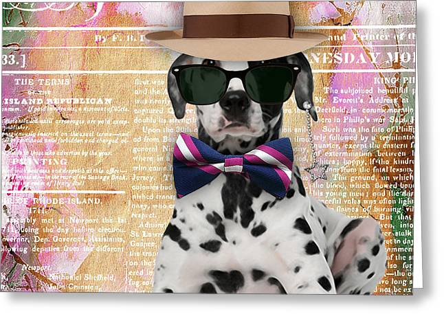 Dalmatian Greeting Cards - Dalmatian Bowtie Collection Greeting Card by Marvin Blaine