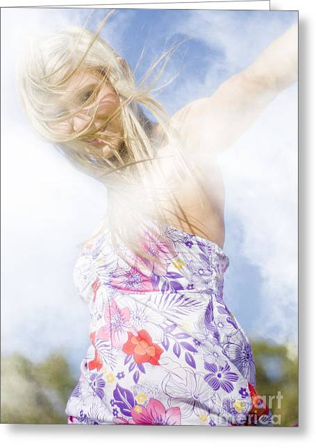 Youthful Photographs Greeting Cards - Dancing Dream Girl Greeting Card by Ryan Jorgensen
