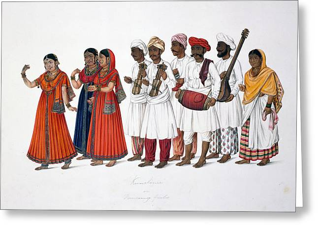 Dancing-girls And Musicians Greeting Card by British Library
