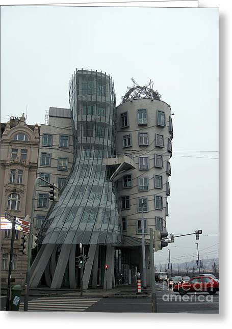 Town Square Greeting Cards - Dancing house in Prague Greeting Card by IB Photo
