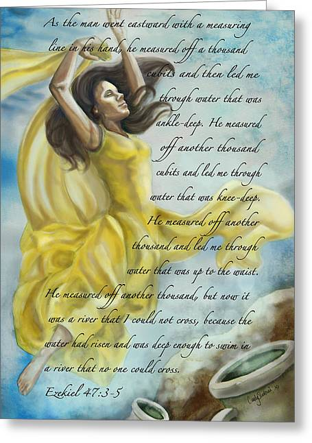 Christian Paintings Greeting Cards - Dancing in Glory Greeting Card by Tamer and Cindy Elsharouni